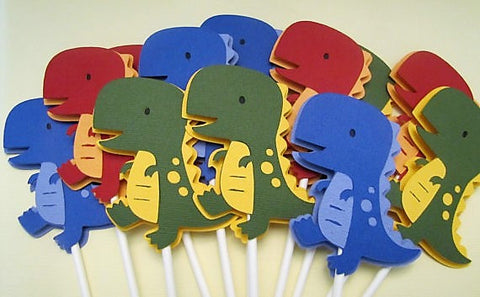 DINOSAUR Cupcake toppers - Set of 12