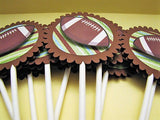 FOOTBALL cupcake toppers- set of 12