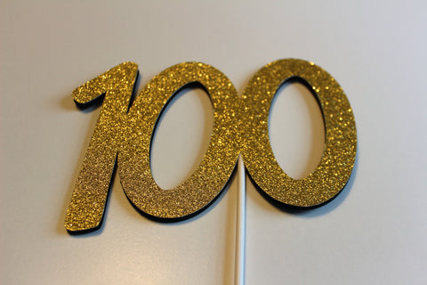 100th Birthday Cake topper or centerpiece