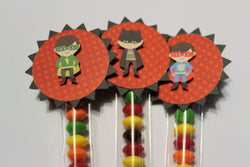 SUPERHERO party favor decorations