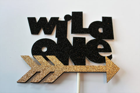 Wild One cake topper - Arrow cake topper, Tribal cake decor - Boho cake topper