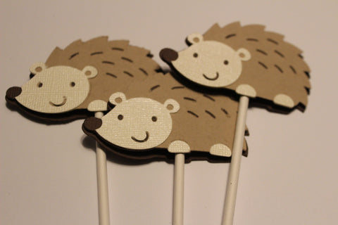 Woodland Hedgehog cupcake toppers
