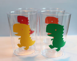 Dinosaur party cups - 10oz - Set of 12
