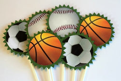 Sport themed cupcake toppers