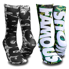 Camo Bar 2-Pack Socks