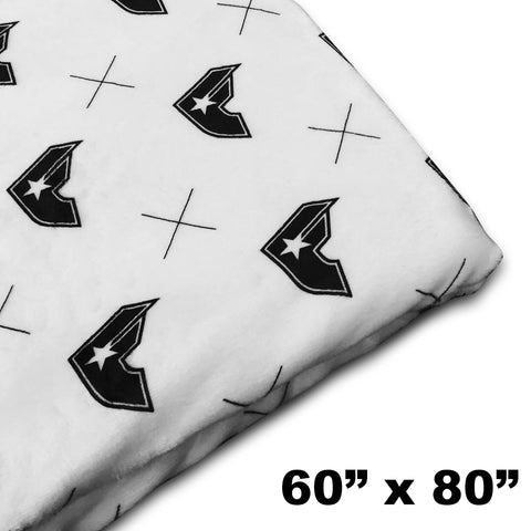 "60"" x 80"" Black Gen-X Blanket"