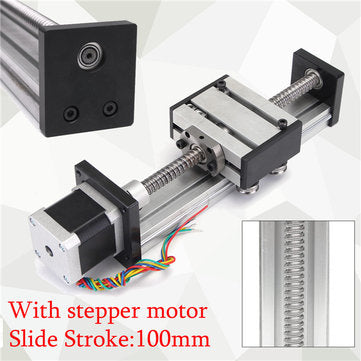 100mm Long Stage Actuator Linear Stage 1204 Ball Screw Linear Slide Stroke  With 42mm Stepper Motor