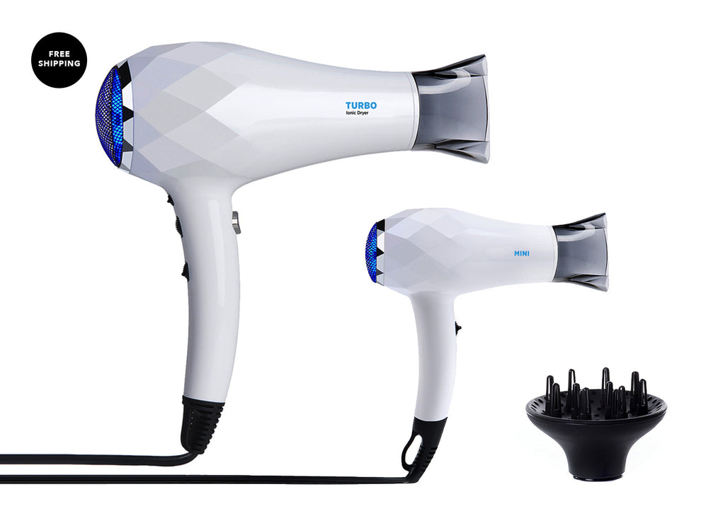 TURBO + MINI Ionic Dryer - gift set with diffuser
