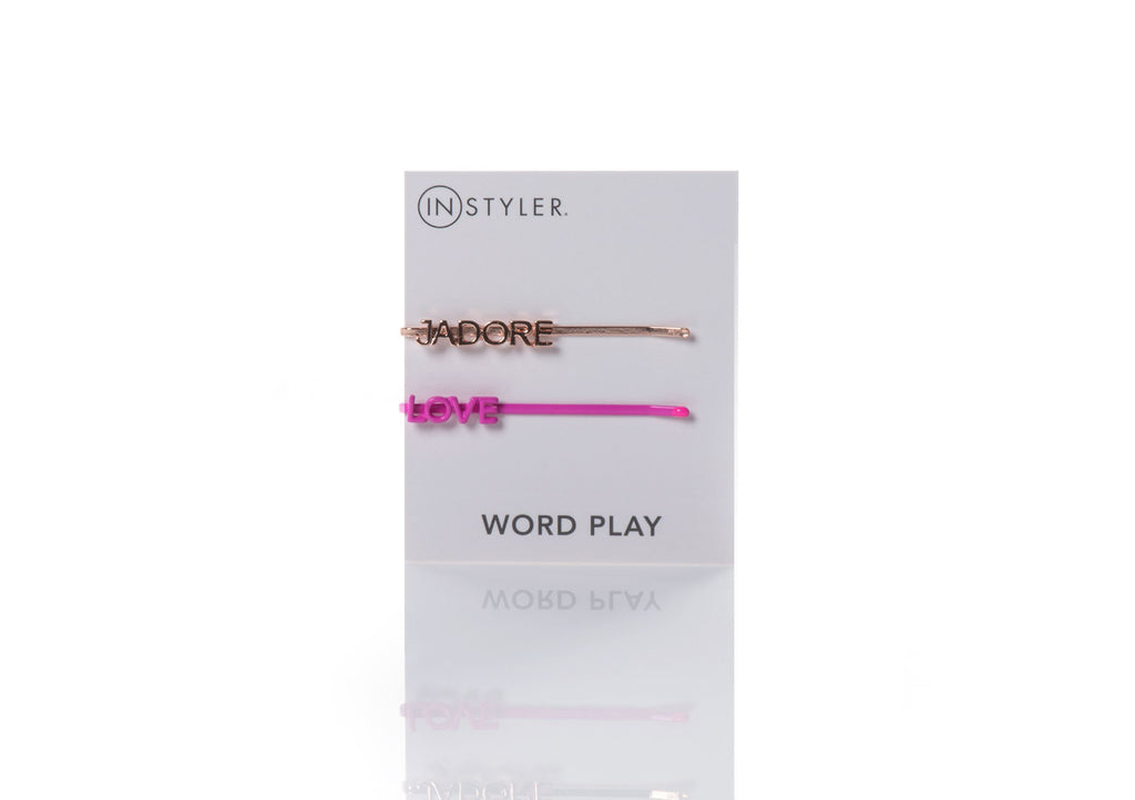 Love - Word Play Hair Pins