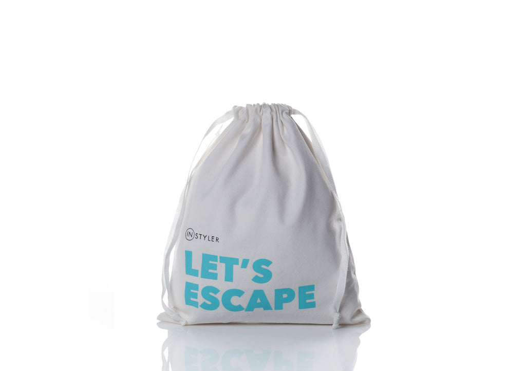 InStyler's LET'S ESCAPE Drawstring Bag