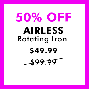 50% off AIRLESS Rotating Iron - $49.99 was $99.99