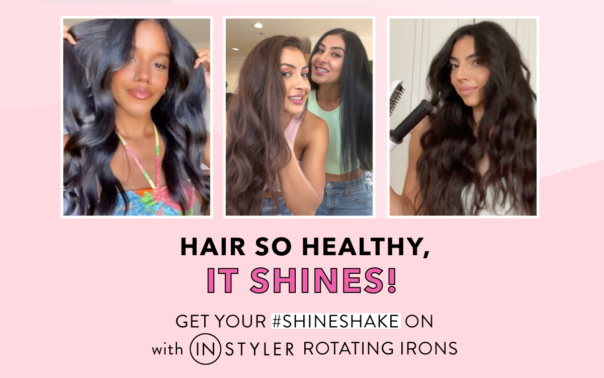hair so healthy it shines! get your shine shake on with InStyler rotating irons