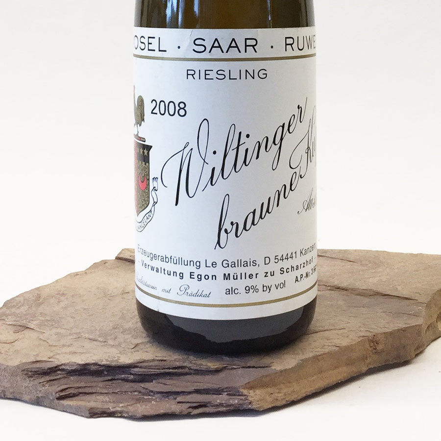 2008 EGON MÜLLER (LE GALLAIS) Wiltingen Braune Kupp, Riesling Auslese Goldkapsel Auction 375 ml
