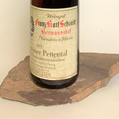 1972 LINUS HAUB Bodenheim Burgweg, Optima Trockenbeerenauslese (Balz Collection) 350 ml