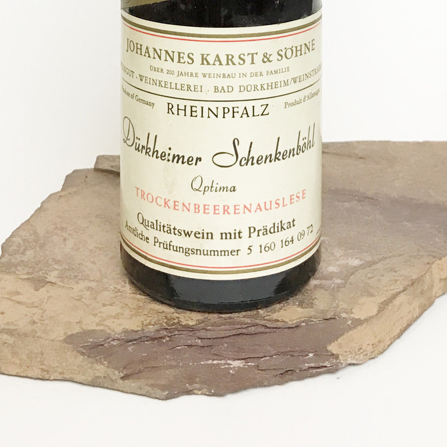 1971 JOHANNES KARST Bad Dürkheim Schenkenböhl, Optima Trockenbeerenauslese (Balz Collection) 350 ml
