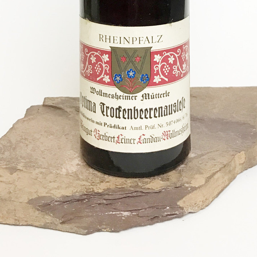 1975 HERBERT LEINER Wollmesheim Mütterle, Optima Trockenbeerenauslese (Balz Collection) 350 ml