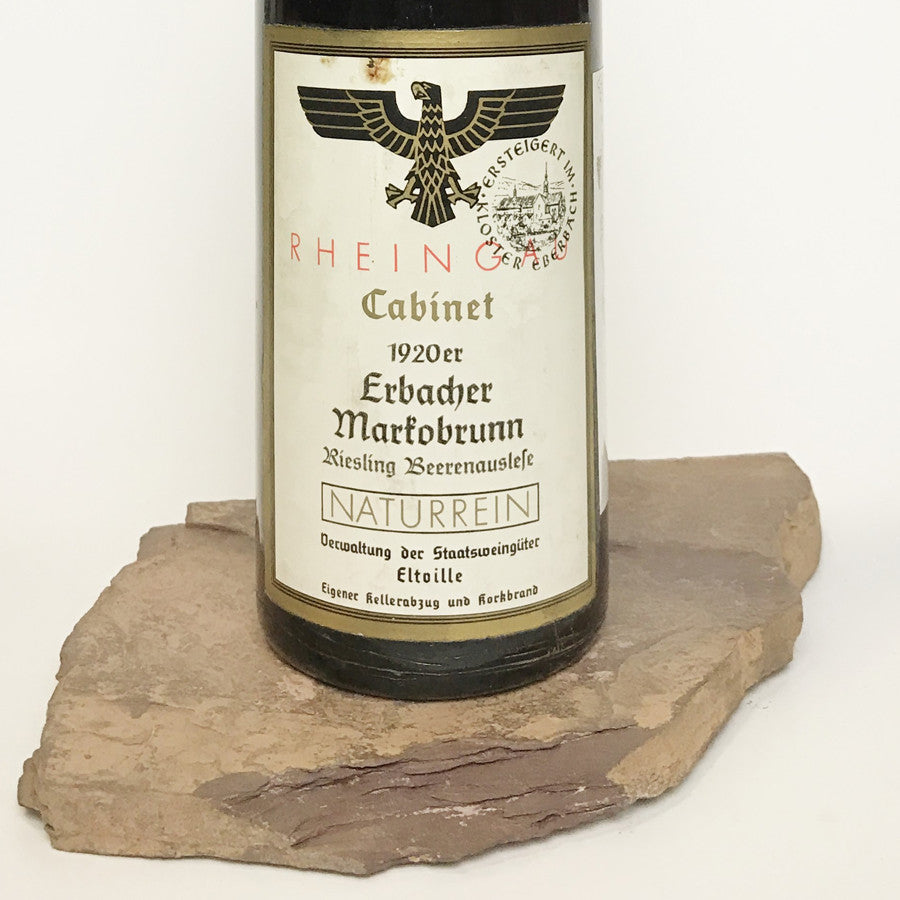 1920 STAATSWEINGÜTER KLOSTER EBERBACH Erbach Markobrunn, Riesling Beerenauslese Cabinet Auction ...