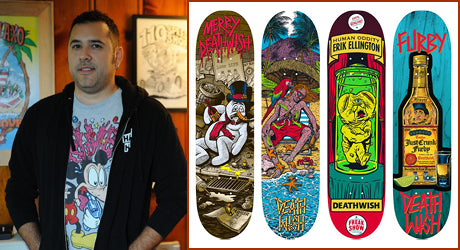 From the Advertising World to Skateboard Art :: Artist Brian Romero Has a Deathwish