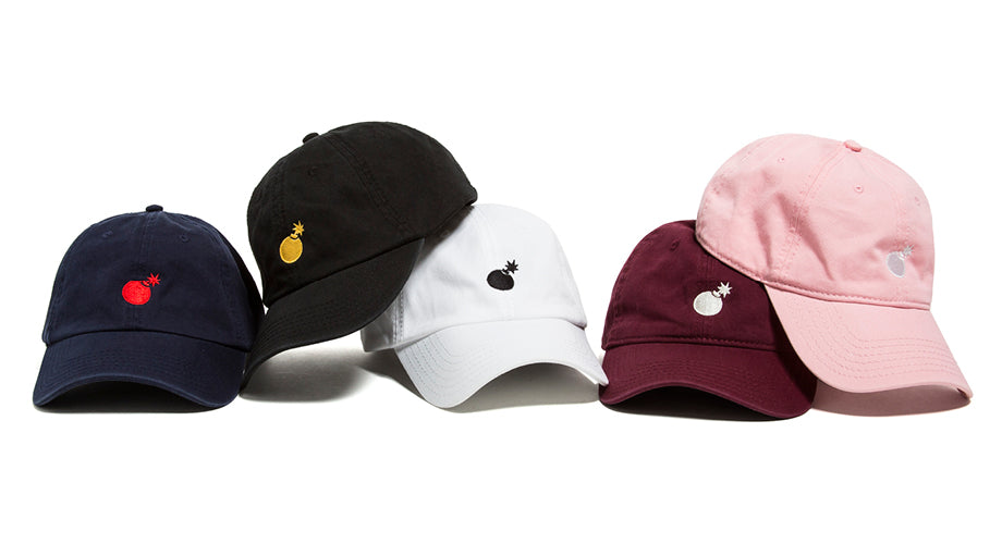 "Available Now :: ""Solid Bomb"" and ""Rose"" Dad Hats"