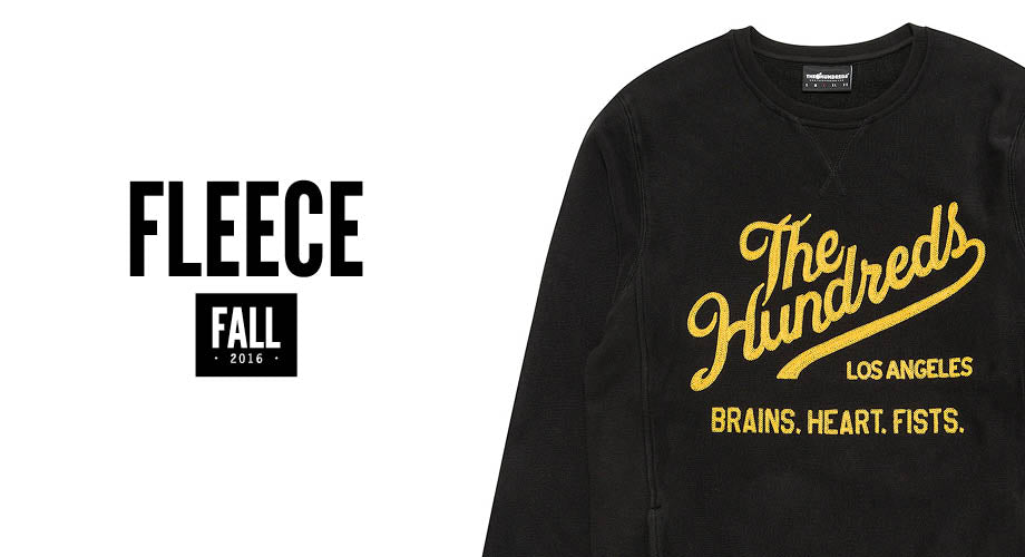 Brave the Elements :: All New The Hundreds Fall 2016 Fleece & Sweatshirts