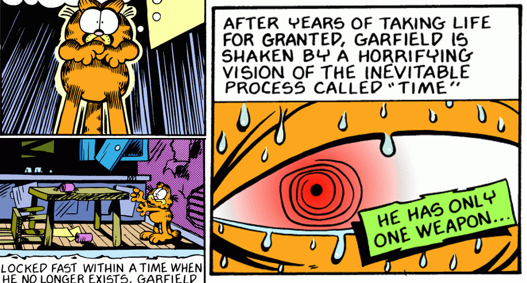 Garfield And The Abyss The Scariest Garfield Comic Strip Series Ever From 1989 The Hundreds