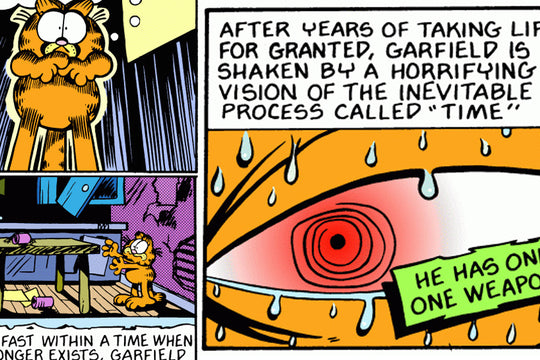 GARFIELD AND THE ABYSS :: The Scariest Garfield Comic Strip Series Ever from 1989