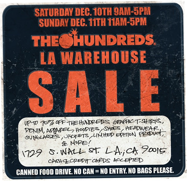 THE HUNDREDS WAREHOUSE SALE