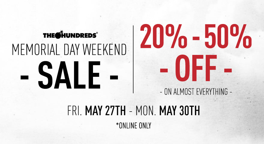 TODAY :: Memorial Day Weekend Sale :: Up to 50% Off From May 27-30