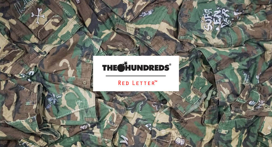 A Closer Look at the One-Of-A-Kind The Hundreds Red Letter Camo Shorts