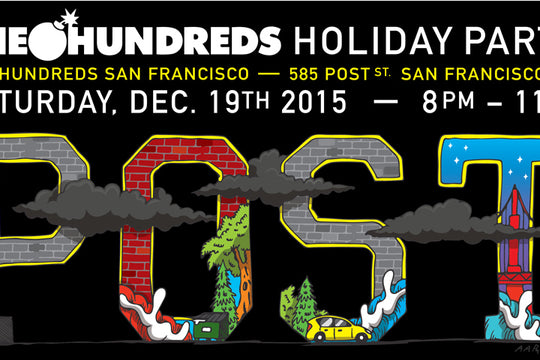 The Hundreds San Francisco Holiday Party w/ Aaron Kai & Alexander Spit