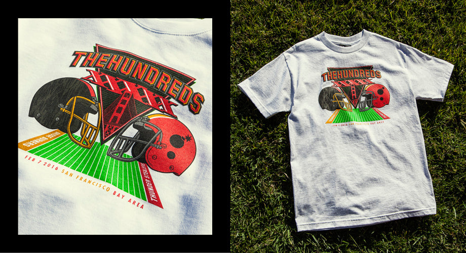 The Hundreds San Francisco Superbowl T-Shirt & Crew-Neck Sweatshirt