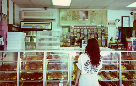 Art Show Celebrating The Dedication of a Donut Shop