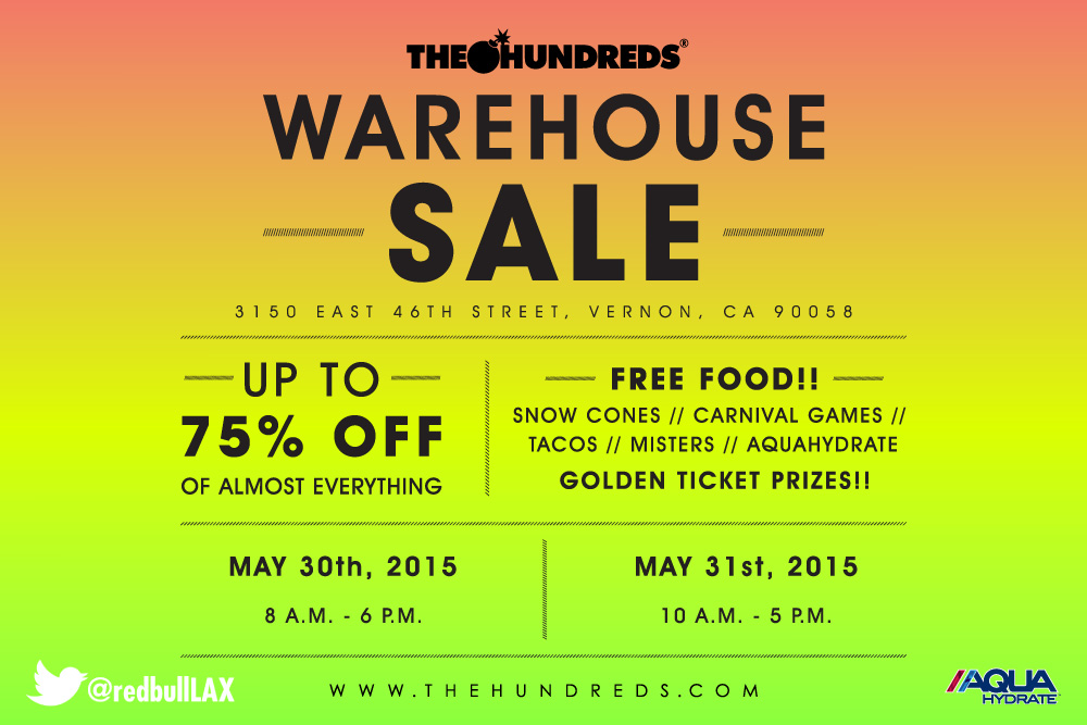 Our Epic Annual Warehouse Sale :: May 30-31