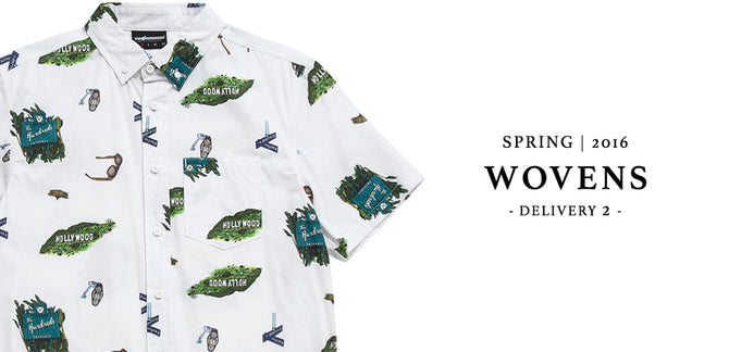 Available Now :: The Hundreds Spring 2016 D2 Wovens