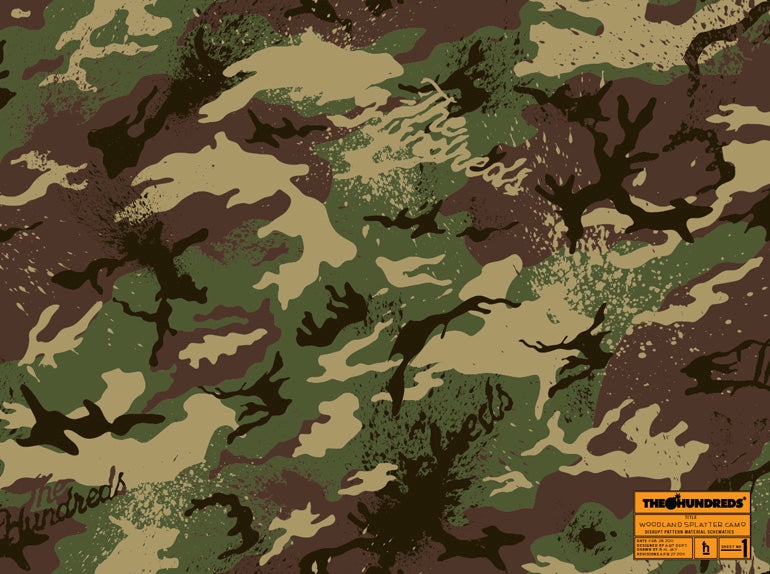 "THE HUNDREDS ""WOODLANDS SPLATTER"" CAMOUFLAGE"