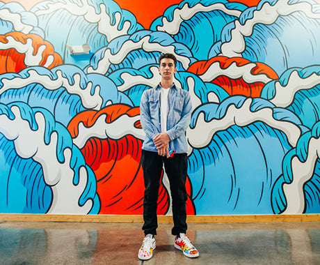 MAKING WAVES :: AARON KAI PAINTS THE HUNDREDS HOMEBASE