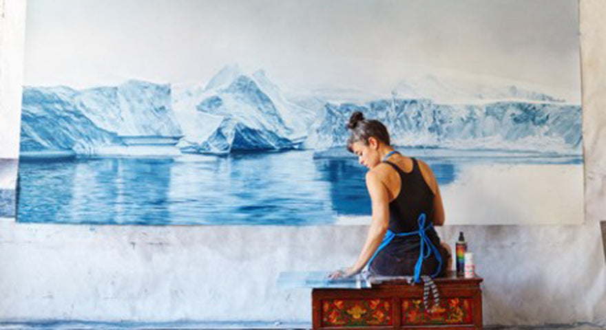 Artist Zaria Forman's TEDTalk Reveals the Urgency of Climate Change