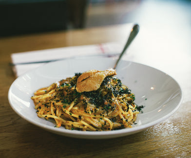 BALANCED :: CHEF ORI MENASHE OF L.A.'S BESTIA MAKES SEA URCHIN SPAGHETTI