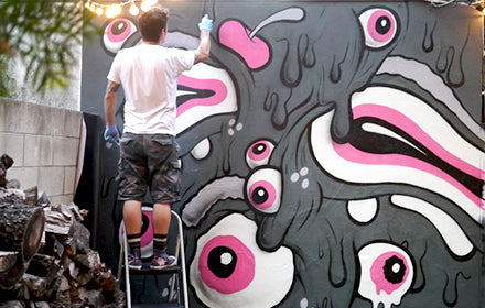 HOW TO PAINT A MURAL BY BUFF MONSTER