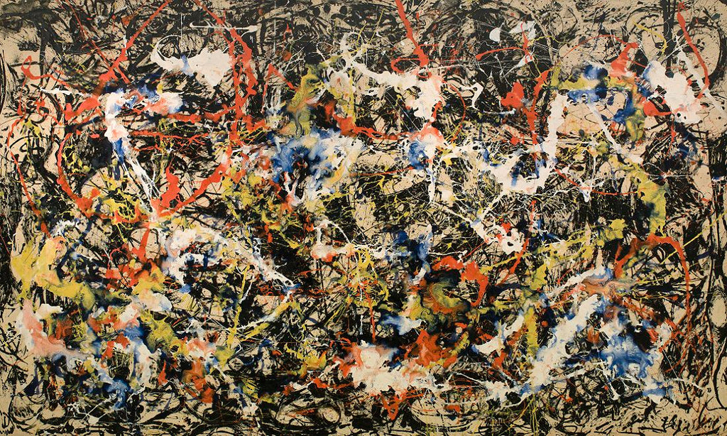 A splatter painting by Jackson Pollock