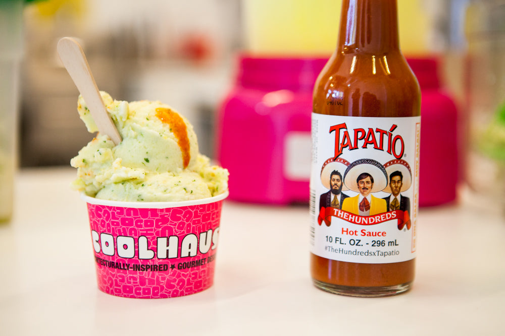 COOLHAUS :: TAPATIO-SPIKED PINEAPPLE CILANTRO CHILI SORBET