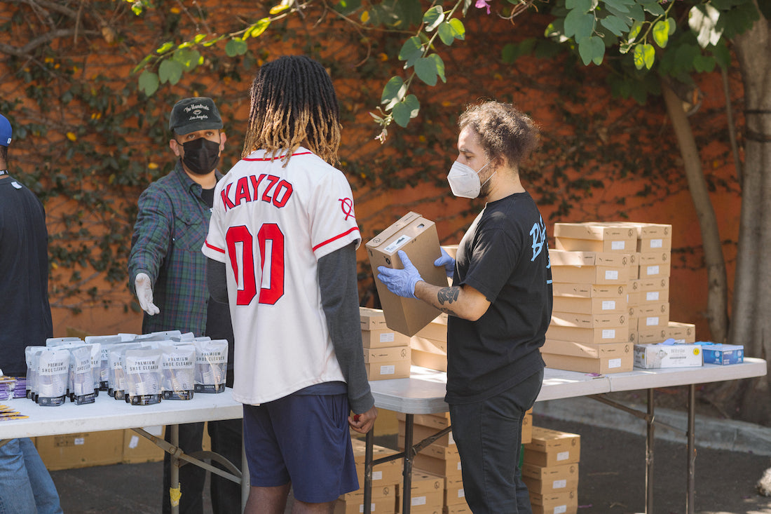 RECAP :: The Hundreds and Hav A Sole Pulled Up to Covenant House in LA to Give Everyone New Kicks