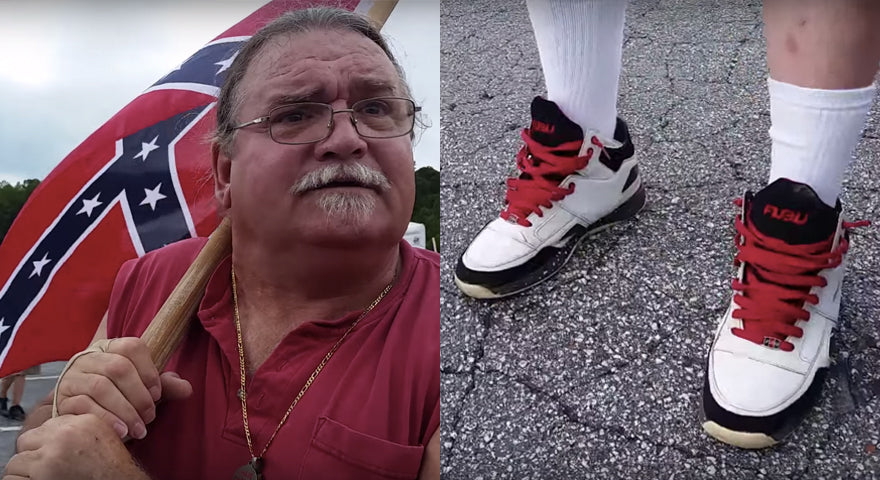 This KKK Member Was Hilariously Confronted at a Rally wearing FUBU Kicks