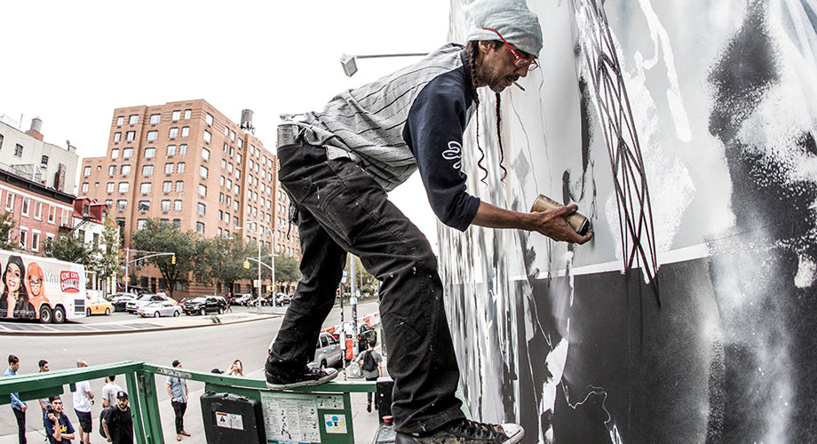 PHOTO SET :: FUTURA Paints the Historic Bowery Wall in NYC