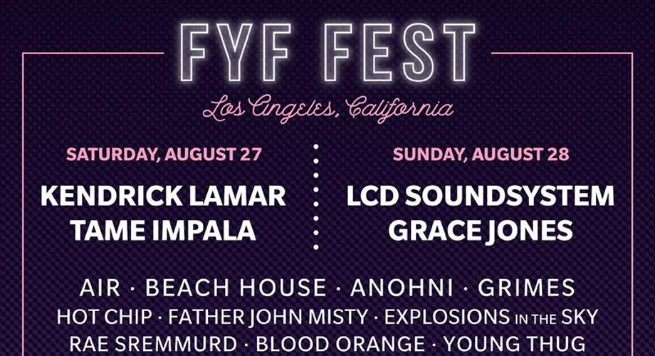 JUST ANNOUNCED: FYF Fest 2016 Lineup ft. Kendrick Lamar, Young Thug, & More