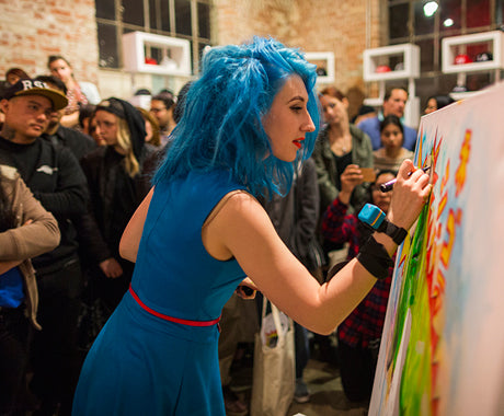 Lora Zombie x The Hundreds Santa Monica :: Live Painting Recap