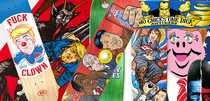 Potus Operandi :: A Brief Oral History of Skateboard Graphics Gone Presidential