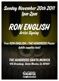 THE HUNDREDS x RON ENGLISH : ARTIST SIGNING