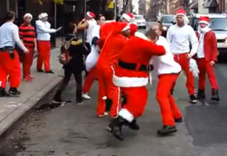 NOTHING SAYS CHRISTMAS QUITE LIKE FIGHTING SANTAS