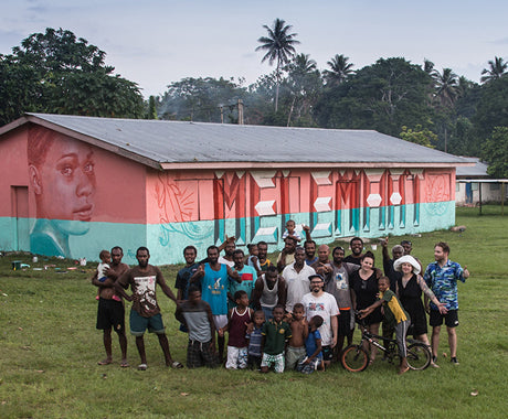 WHAT HAPPENS WHEN STREET ART MEETS A TINY VILLAGE IN VANUATU